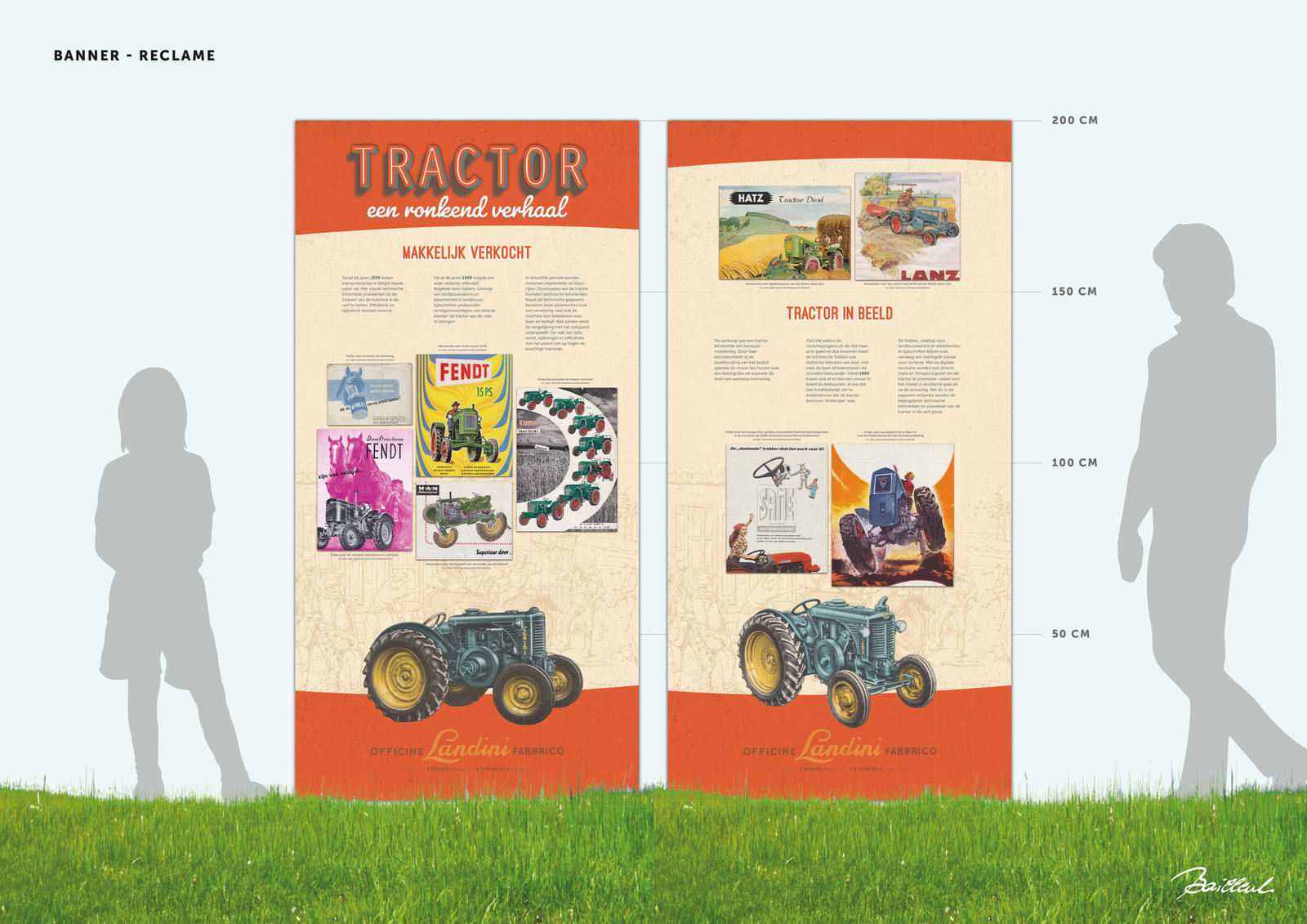 CAG-tractor-tekening banners