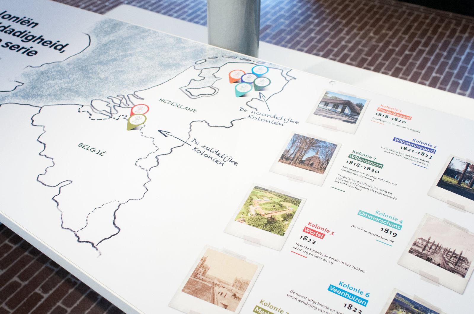Merksplas kolonie - kaart