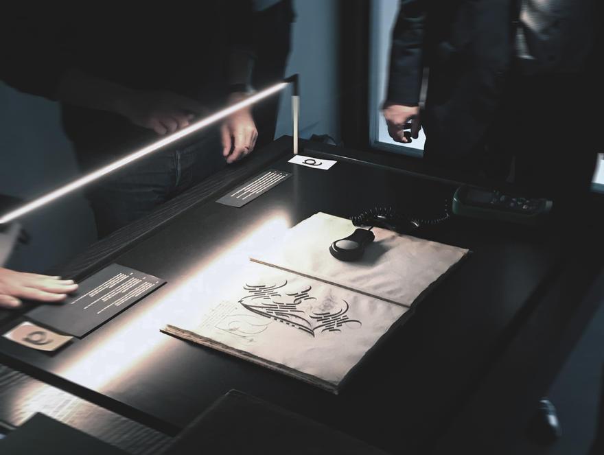 KBR Librije, vitrines test verlichting