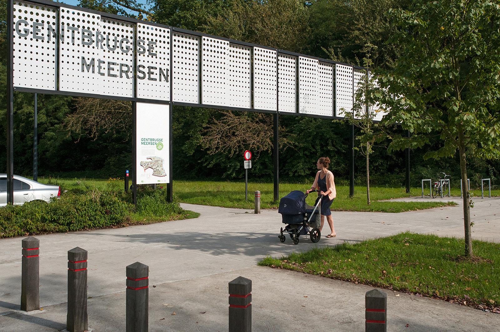 Gentbrugse Meersen - hoofdtoegang