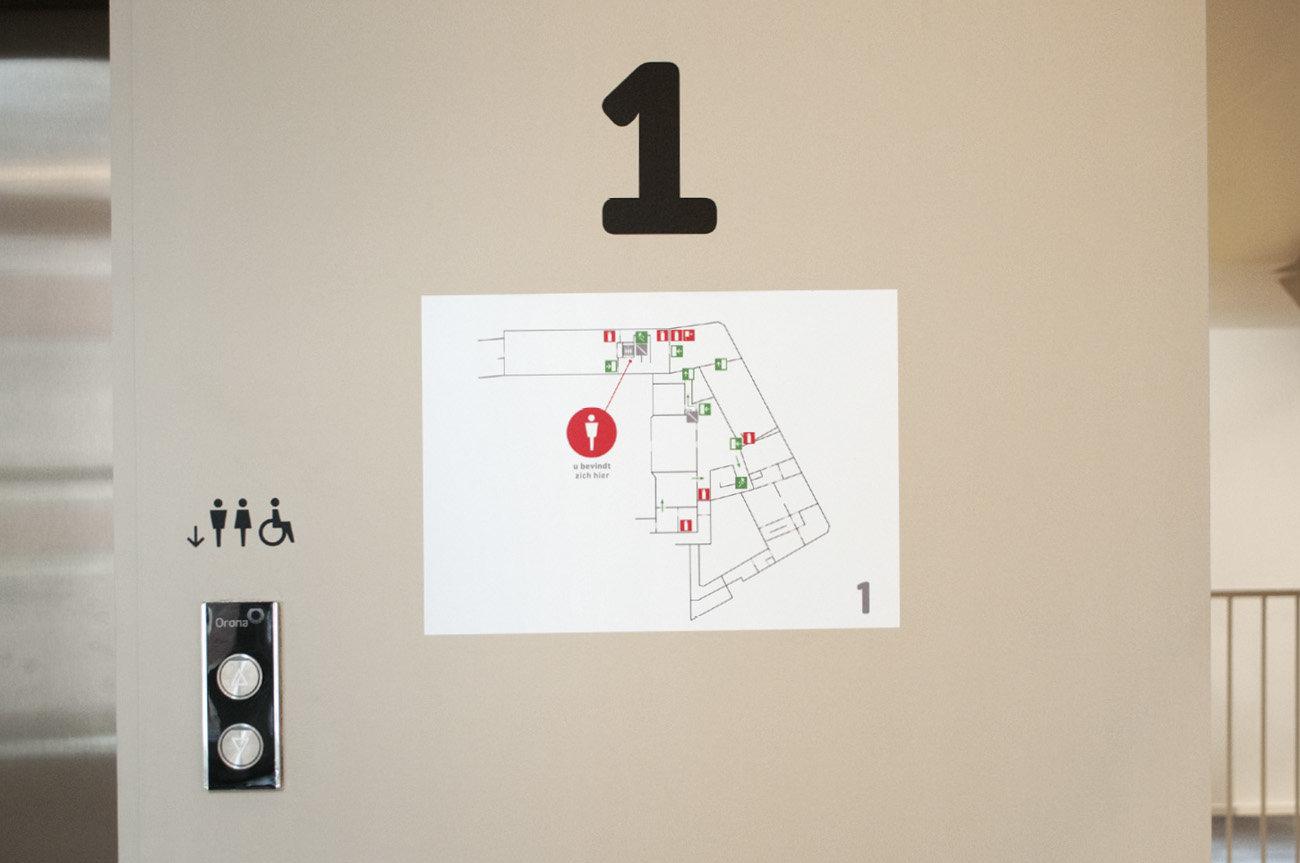 Sint- Baafshuis - evacuatieplan