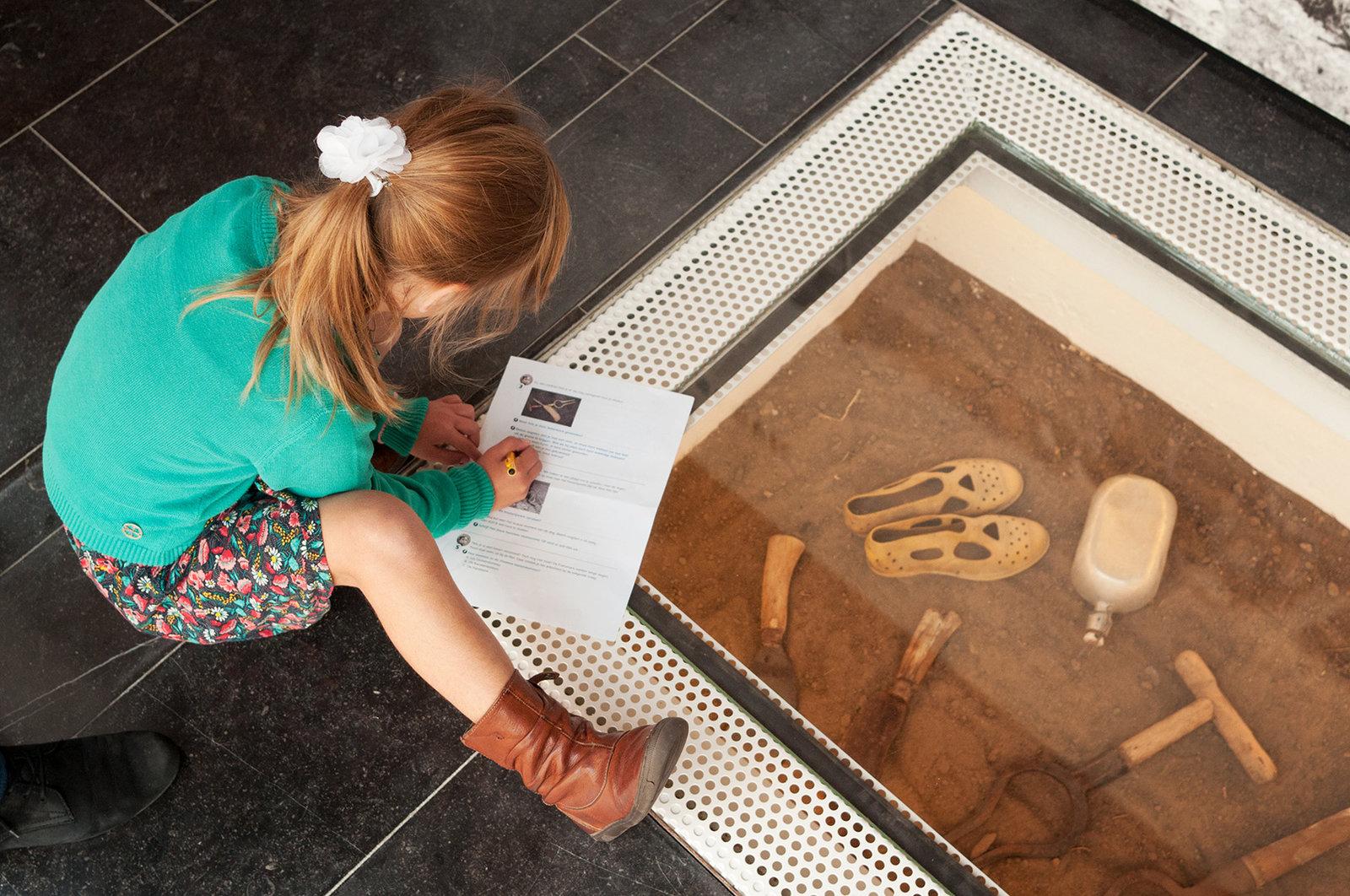 Fransmansmuseum - vitrine in de grond
